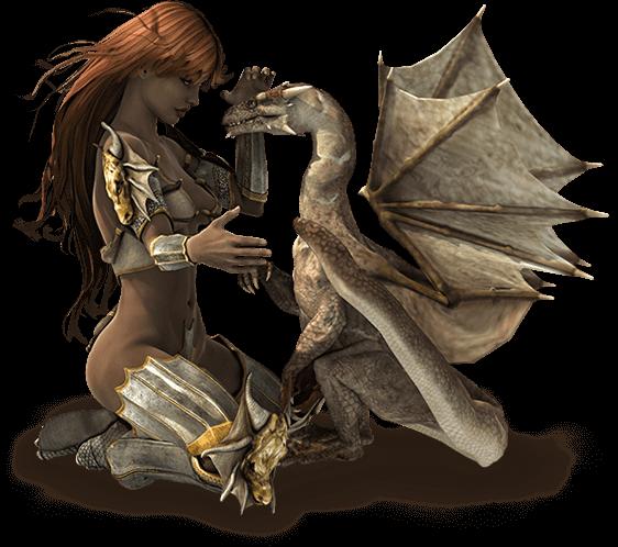 fantasy-world-ladywithdragonplaying